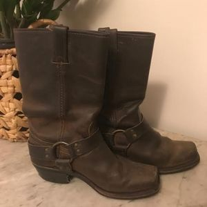 Frye harness motorcycle boots size 9